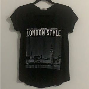Black London Graphic Tee